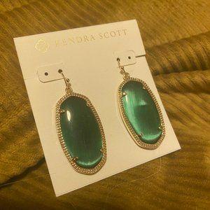 Kendra Scott Green Elle Drop earrings